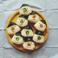 かわいすぎる「顔むすび」の世界♡お弁当&お家ごはんをもっと楽しく