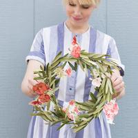 """お部屋に色とりどりの花を。""""紙""""で作る、春待ちリース&ガーランド"""