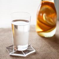 シンプルな美しいグラスで水を飲んで。心も身体も美しく。