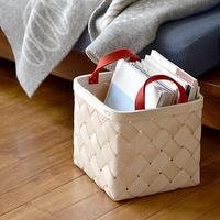 白樺のぬくもりをお部屋に。美しく収納できる「ベルソ デザイン」のバスケット