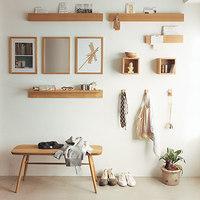 無印良品の「壁に付けられる家具」でギャラリーのような収納を♪