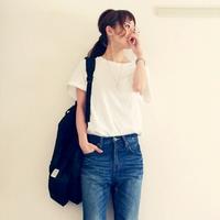 白Tシャツ+デニム=究極のベーシックスタイル。素敵な着こなし&コーデ集めました。