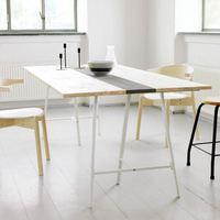 リビング、ダイニング、デスクにも。【IKEAの架台+天板】で作るお好みテーブル