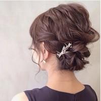 結婚式・二次会のお呼ばれに♪ 素敵なアップスタイルヘアアレンジ集