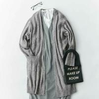 ワンピースの上にニットやセーターをざっくり♪簡単かわいいコーデの秘密