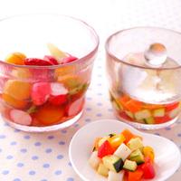 保存にも便利だよ!好きな野菜で彩りキレイな「ピクルス」を作りましょ*