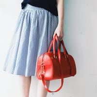 夏らしい爽やかなカラーで気分もUP♪「白×青」のストライプを纏ったコーディネート集