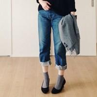 掛け算ファッションが良い具合♪大人のための「パンプス×靴下」お手本コーデ集