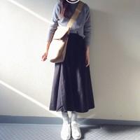 女性らしくて上品♪使いやすい万能カラー「グレー」を使った秋コーディネート