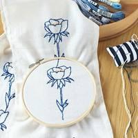シンプルだから初心者さんも簡単♪「バックステッチ」を使って可愛い刺繍をしてみよう