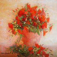 幻想的な風景と花、大地の歌を表現する「ジャン・ゴダン」の幸せ色に輝くアートな世界