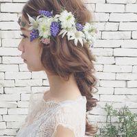 ノスタルジックでピュアな花嫁さんになれる♡ マリさんのヘアアレンジが素敵!
