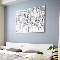 シンプルなお部屋にアクセント。【ファブリックパネル】の作り方とインテリア例
