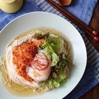 夏まで待てない。一皿で大満足の素麺(そうめん)レシピ。