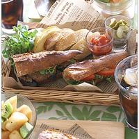 レジャーシーズン到来!ハード系パンのサンドイッチを作ってピクニックへ行こう♪
