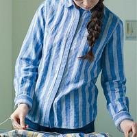 ゆるっと?ぱりっと?清潔感があって使える「ブルーストライプ」アイテムの着まわし術