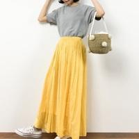 体型カバーもおまかせ。ひらりと揺れる「ロングスカート」で華やかコーデ♪
