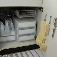 使いたいものをさっと取り出せる♪キッチン「シンク下」のお手本収納術