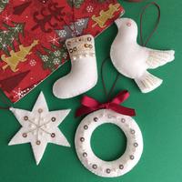 身近なものでキュートに作れる♫「クリスマスオーナメント」を手作りしよう