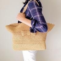 環境にもやさしい素材。「エコアンダリヤ」の帽子&バッグを手作りしてみない?