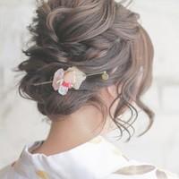 """夏の浴衣ヘアは、""""まとめ髪""""や""""ヘアアクセサリー""""で印象アップ♪簡単ヘアアレンジ集"""