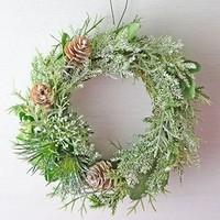 自然の色をメインに。今年は大人色のクリスマスリースを飾ろう☆