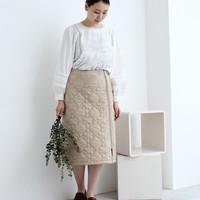 ふかふかあったか♪キルティング素材でスカートスタイルをフレッシュに!