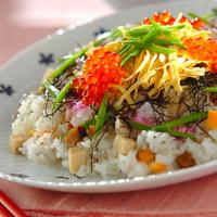 ひな祭りにも*みんなが集まる日の【ちらし寿司】レシピ