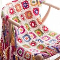 レトロな可愛さに夢中♪「グラニー編み」でつくる、冬のほっこりアイテムDIY集