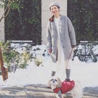 """寒くても""""重くならない""""装いで季節感を。『白』を効かせたコーディネート*"""