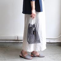 クリア・メッシュ・天然素材。お出かけに涼しさと爽やかさを添える夏のバッグコーデ