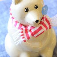 今年の冬はピンクのマフラー♪人気【しろくま貯金箱】とクマモチーフの雑貨たち