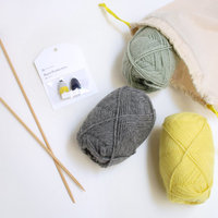 """自分で編めばもっとぬくぬく♪ """"編み物キット""""ではじめる手作りニット"""