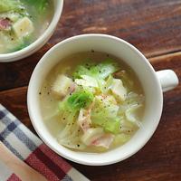 寒い日はやっぱりこれだね。野菜たっぷり《優しいスープレシピ》