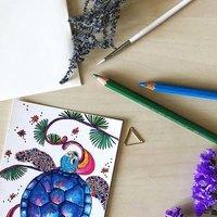 水でぬらすと水彩画タッチに*人気画材『水彩色鉛筆』の使い方&塗り方【おすすめイラスト付】
