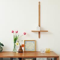 センス良く飾りたい、木工房玄 高塚和則さんの『かべかけ棚』