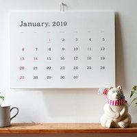 いつも暮らしのそばに。2019年の「カレンダー」選び(月めくり&日めくり)