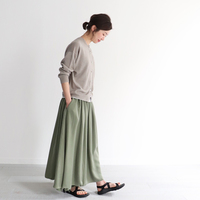 着回し力抜群!「カーキロングスカート」を使った春夏秋冬コーディネート集