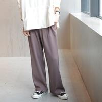 イージーな履き心地でリラックス感を演出【リブパンツ】のレディースコーデ