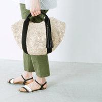 バッグから始める夏の装い。大人可愛い「かごバッグ」でお出かけしよう♪