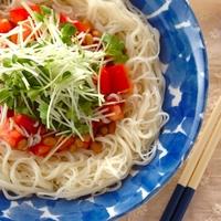 普通の素麺に飽きてきたら…【10分以内】でできる栄養満点素麺レシピ
