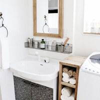 ハブラシ、歯磨き粉、石鹸etc...「洗面台」の細々アイテムの収納アイデア♪