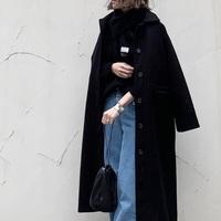 今年の冬はシンプルな「ロングコート」をこう着こなす♪先取りコーデ帖