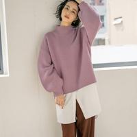 2019年秋冬のトレンドカラー!「紫ニット」で作る大人の旬コーデ