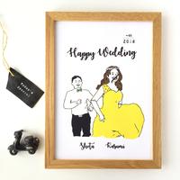結婚式のウェルカムボードを手作り♪写真・似顔絵・100均DIYのアイデア集