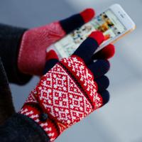 スマホ操作も楽々。冬の必需品【スマートフォン対応手袋】カタログ
