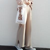 パンツ、スカート…好バランスをつくる「リブニット」アイテムの合わせ方