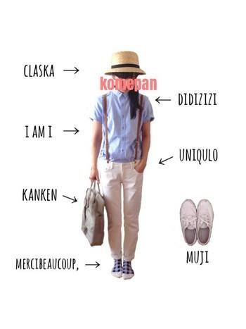 白パンツもチーププライスなら汚れの心配しないで良し。  積極的にこれから履きませんか。  シャツも白シャツにして、全身白コーデはいかが?  夏の醍醐味です。