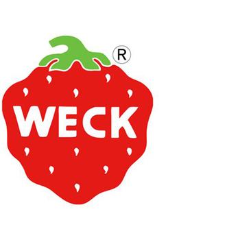 WECK社と言えばこの苺のトレードマーク。 このマークをモチーフにしたートバッグや布巾も販売されています。 ぱっと目を引く赤のマーク。可愛いですね。