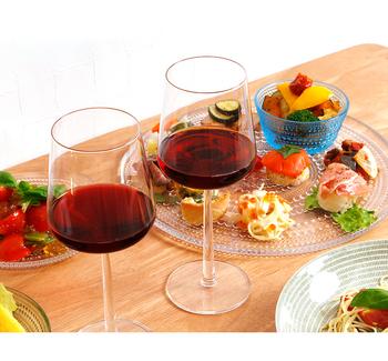 こんなワイングラスで北欧のワインを味わいたいです☆  今宵は美酒に酔いしれて。